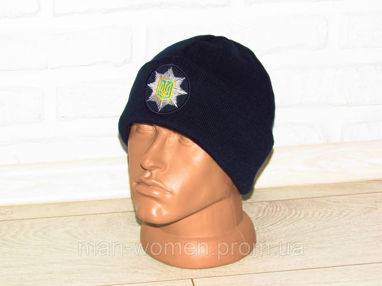 Шапка синего цвета, для нацполиции Украины. Форменная шапка для национальной полиции