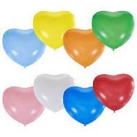 """Повітряні кульки серце 10"""" (25 см) поштучно без малюнків"""