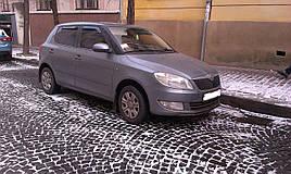 Дефлекторы окон (ветровики)  Skoda Fabia II 2007->  5D Hatchback 4шт(Heko)