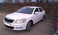 Дефлекторы окон (ветровики)   Skoda Octavia A5 2004-> 4D Sedan 4шт(Heko)