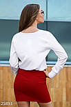 Шелковая белая боди-блузка на запах, фото 3