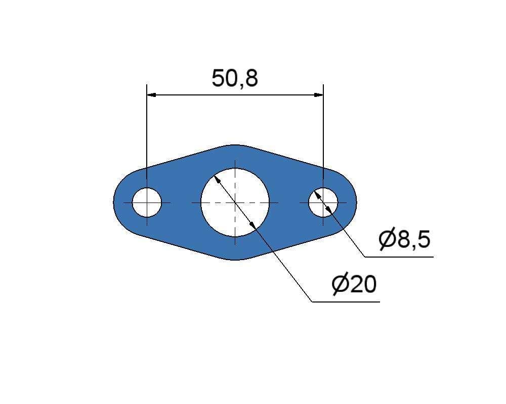 № 2505303 Комплект прокладок турбины Mercedes 16.0D, 15.0D,