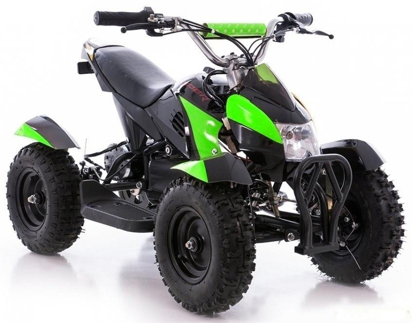 Детский квадроцикл Profi HB - 6 EATV 800W черно-зеленый с фарой