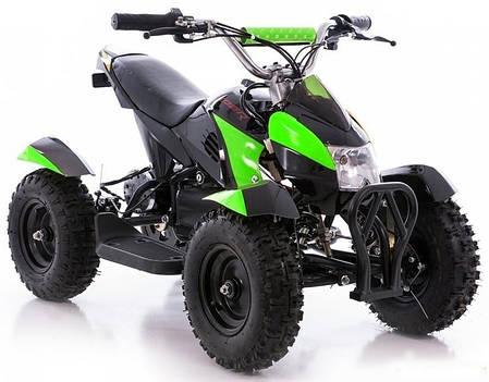 Детский квадроцикл Profi HB - 6 EATV 800W черно-зеленый с фарой, фото 2