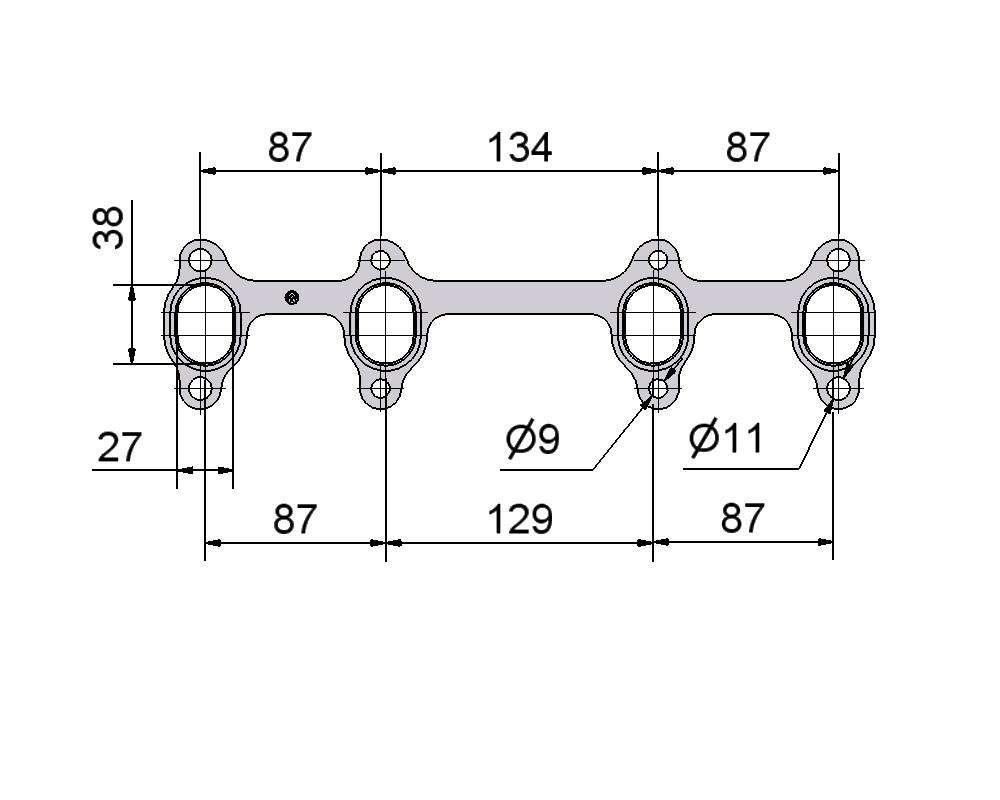 № 2505382 Комплект прокладок турбины VW 1.9D, Audi 1.9D, Skoda 1.9D, Seat 1.9D