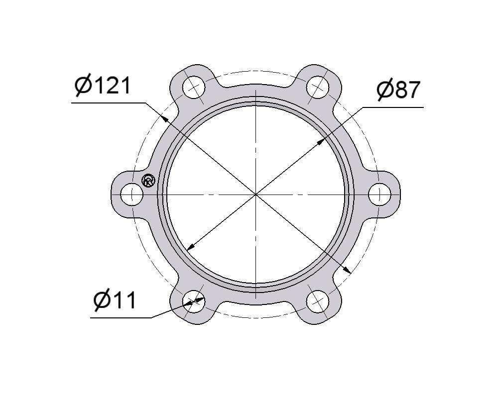 № 2505177 Комплект прокладок турбины DAF 12.5D