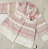 Детский  демисезонный плащ- ветровка для девочки размер 80-92 (1-2 года)