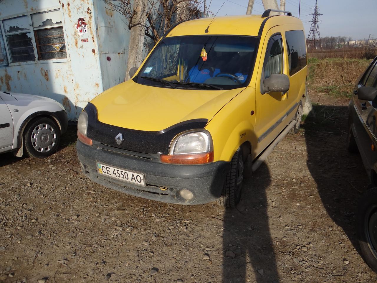 Дефлекторы окон (ветровики)  Renault Kangoo 1997-> 2008 2шт (Heko)