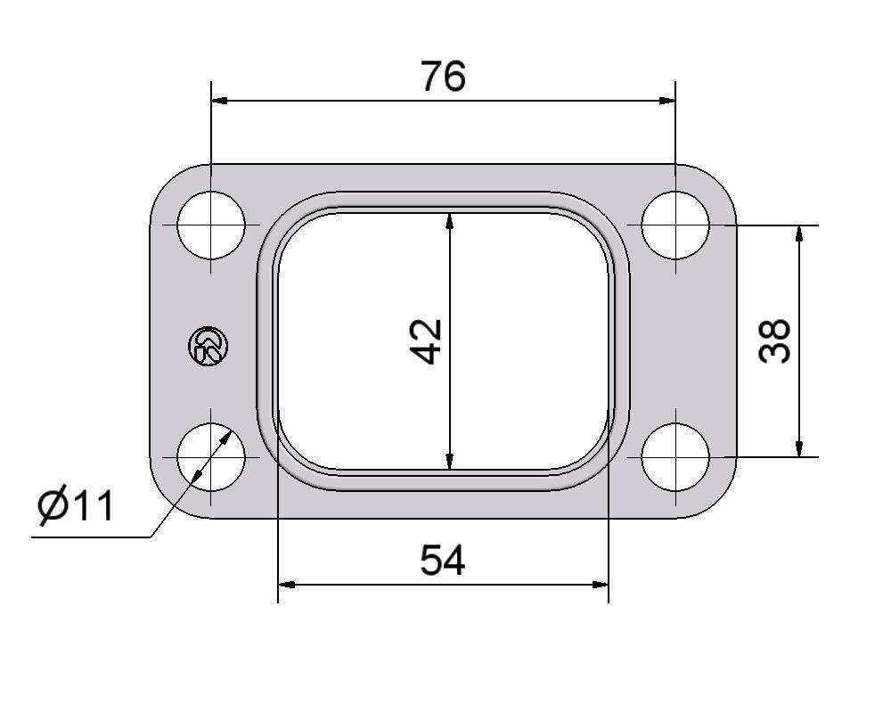 № 2505451 Комплект прокладок турбины Fiat 2.5D