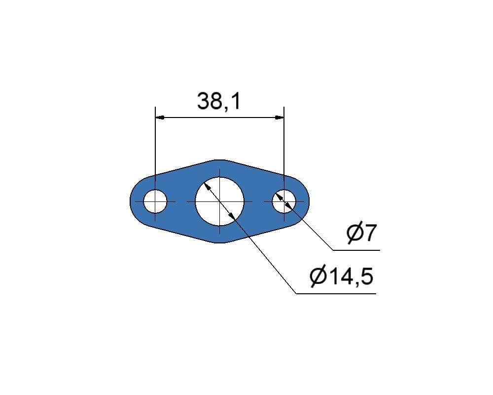 № 2505360 Комплект прокладок турбины Perkins 4.4D