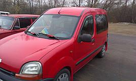 Дефлекторы окон (ветровики) Renault Kangoo 1997-> 2008 2шт (HIC)