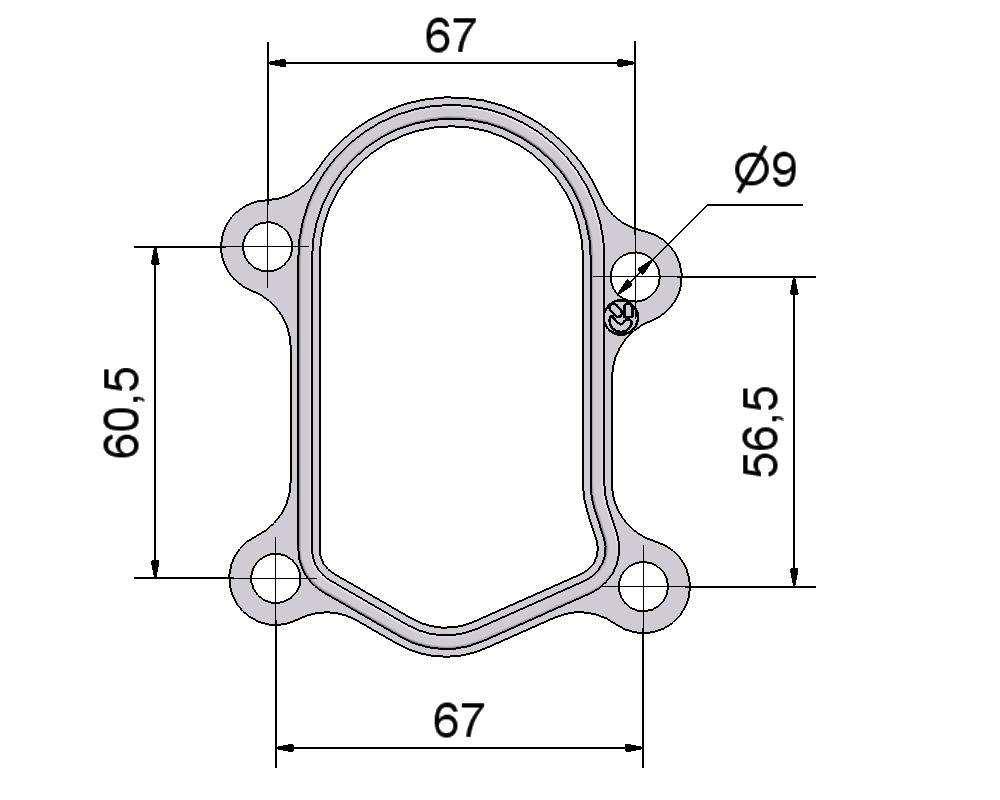 № 2505241 Комплект прокладок турбины Peugeot 2.8D, Fiat 2.8D, Citroen 2.8D