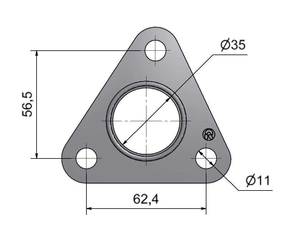 № 2505521 Комплект прокладок турбины Opel 1.7D