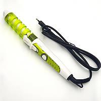Спиральная плойка для завивки волос стайлер керамический RIZHEN RZ-118 зеленый
