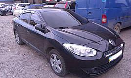Дефлекторы окон (ветровики) Renault Fluence 2009 4шт (korea)