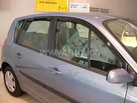 Дефлекторы окон (ветровики) Renault Scenic 2003-> 5D 4шт (HIC)