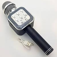 Беспроводной микрофон Караоке с динамиком USB AUX Wster WS-1818 в коробке Черный