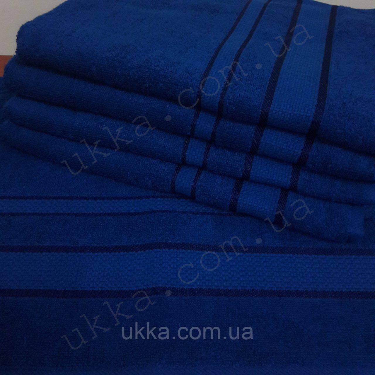 Полотенце махровое 40х70 Синий для рук 100% хлопок Узбекистан