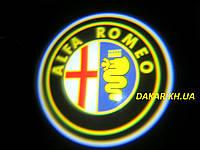 Проектор логотипа Alfa Romeo в автомобильные двери Альфа Ромео