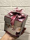 Подарочная бумажная коробка Кубик 10,5*9,5 см Девочка 300 грамм, фото 3