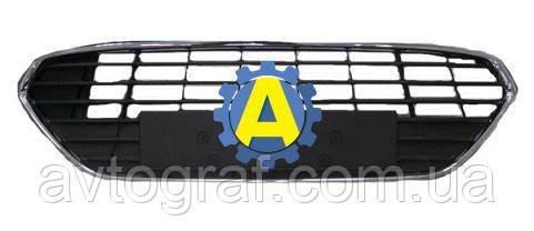 Решетка бампера переднего на Форд Мондео (Ford Mondeo) 2010-2014