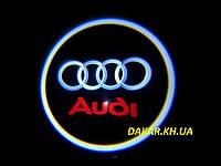 Проектор логотипа Audi в автомобильные двери Ауди