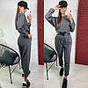 Комбинезон женский с брюками в стиле спорт шик с поясом и карманами Dld1320