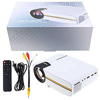 Портативный проектор Projector LED YG400 с динамиком мультимедийный проектор LED YG400 Оригинал белый