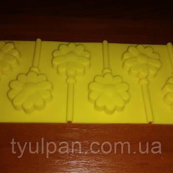 Силиконовая форма для леденцов цветочки ромашка