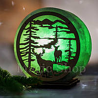 Соляная лампа Лес Зеленый, ночник HealthLamp