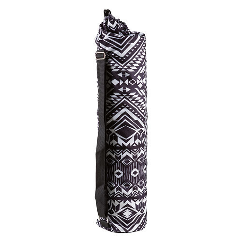 Сумка чохол для килимка чорно-біла N274-10
