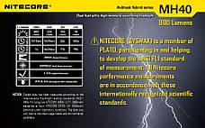 Поисковый фонарь Nitecore MH40 THOR (Cree XM-L2 T6, 1000 люмен, 6 режимов, 2x18650), комплект, фото 2