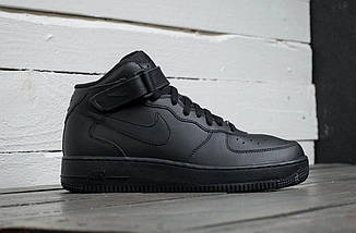 """Мужские кроссовки Nike Air Force 1 Mid """"Black"""", nike air force high, фото 2"""