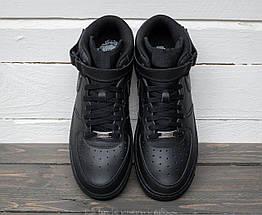 """Мужские кроссовки Nike Air Force 1 Mid """"Black"""", nike air force high, фото 3"""
