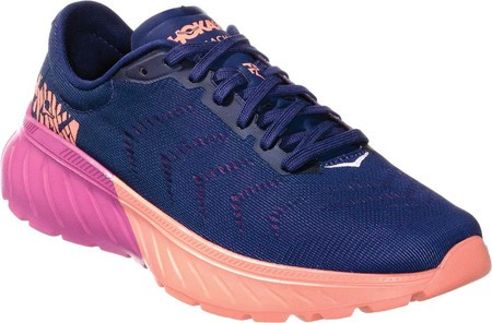 c5511d3c Женские кроссовки Hoka One One Mach 2 Sneaker Medieval Blue/Very Berry Mesh  - SaleUSA