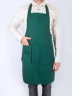 Фартук официанта зеленый, из высококачественной спецткани, индивидуальный пошив, все размеры