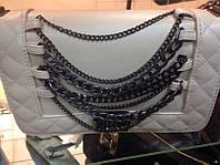 Сумка - клатч Chanel Le Boy с цепями (Шанель Бой с цепями)