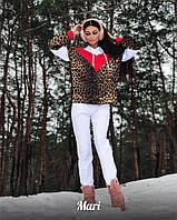 4591b9be3a8 Костюм женский теплый свитшот свободного кроя с леопардовым принтом и штаны  2Dmill1321