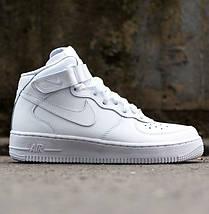 """Женские и мужские кроссовки Nike Air Force 1 Mid """"White"""", nike air force high, фото 2"""