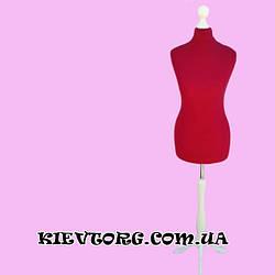 Манекен портновский женский пенопластовый для пошива одежды, ателье, торгового магазина, красный (Польша)