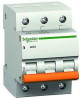 Автоматический выключатель Schneider electric ВА63 3П 20A C