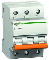 Автоматический выключатель Schneider electric ВА63 3П 25A C