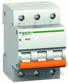 Автоматический выключатель Schneider electric ВА63 3П 32A C