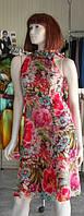 Платье из шелка в цветы