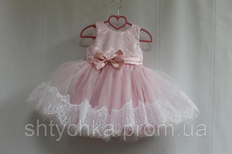 """Нарядное платье на девочку """"Нежные розовые реснички"""""""