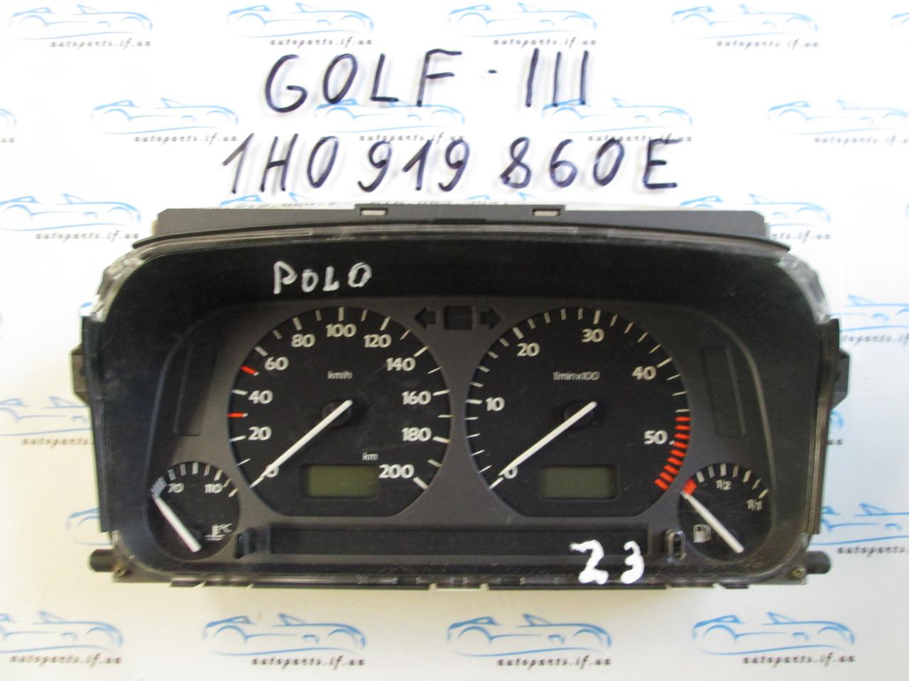 Панель приборов Golf 3, Гольф 3 1H0919860E