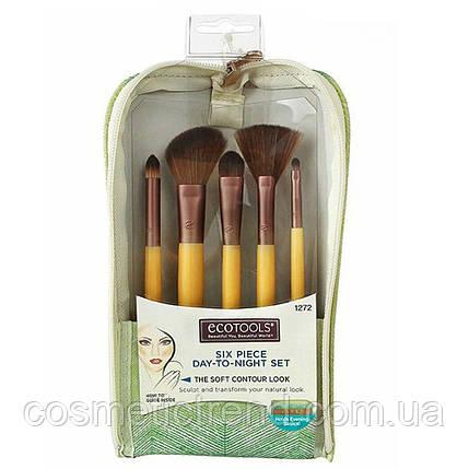 Набор кистей для макияжа Eco Tools Six Piece Day-To-Night Set 1272 (5 кистей+косметичка/клатч), фото 2