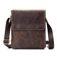 b8b17a8d9fe8 Оригинальная кожаная сумка через плечо, цвет коричневый, Bexhill bx9382