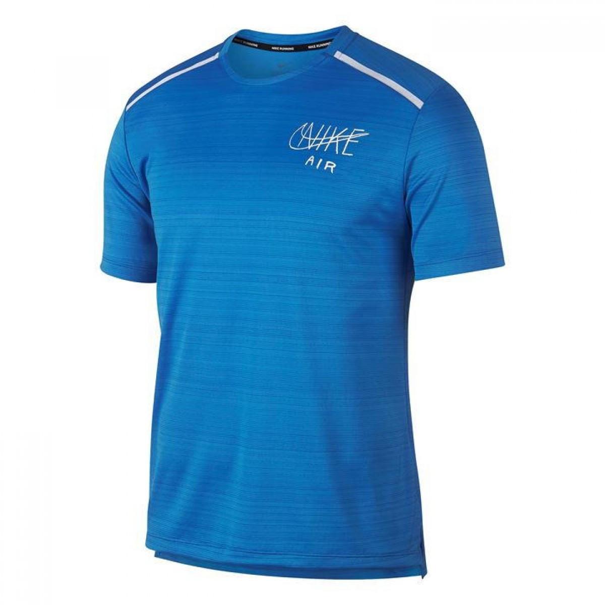 c8f4882b Футболка Nike Miler Graphic Running Blue/White - Оригинал — в ...