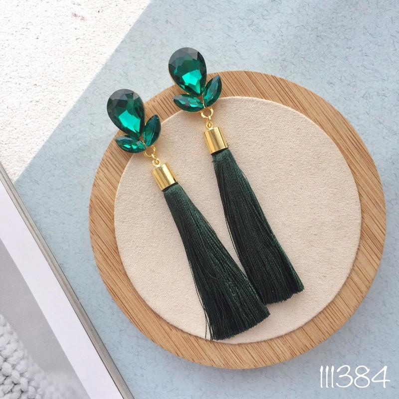 Серьги кисти Tavia green
